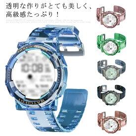 Huawei Watch GT2 46mm 42mm ベルト Huawei Watch GT2Pro GT2E GT2HONOR 2 透明 一体型 バンド クリア ベルト シアー 腕時計ベルト 替えベルト 交換ベルト 交換バンド バンド 交換 メンズ レディース 時計