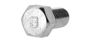 鉄(S45C)/クロメート [小形] 8マーク 六角ボルト (全ねじ)M8×16 【 バラ売り : 8本入り 】