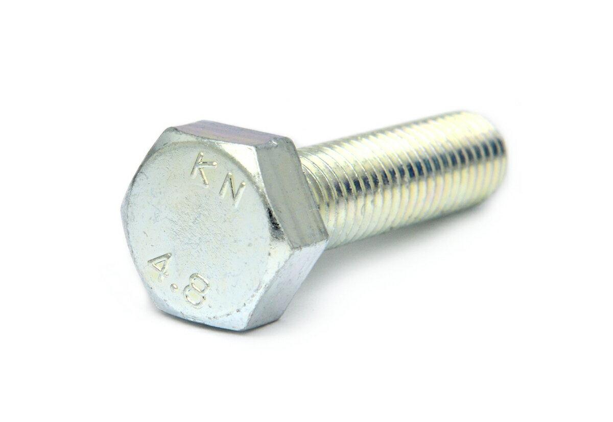鉄/三価ホワイト 六角ボルト (全ねじ)M5×100 【 バラ売り : 4本入り 】