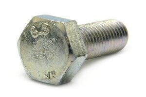 鉄(S45C)/三価ホワイト 六角ボルト [強度区分:8.8] [日本ファスナー製](全ねじ) M10×16 【 小箱 : 1箱/100本入り 】