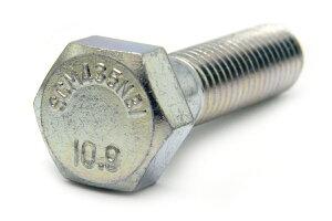 鉄(SCM435)/三価ホワイト 六角ボルト [強度区分:10.9] [日本鋲螺製](半ねじ) M20×115 【 小箱 : 1箱/15本入り 】
