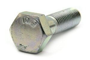 鉄(SCM435)/三価ホワイト 六角ボルト [強度区分:10.9] [日本ファスナー製](半ねじ) M16×55 【 お得セット : 20本入り 】