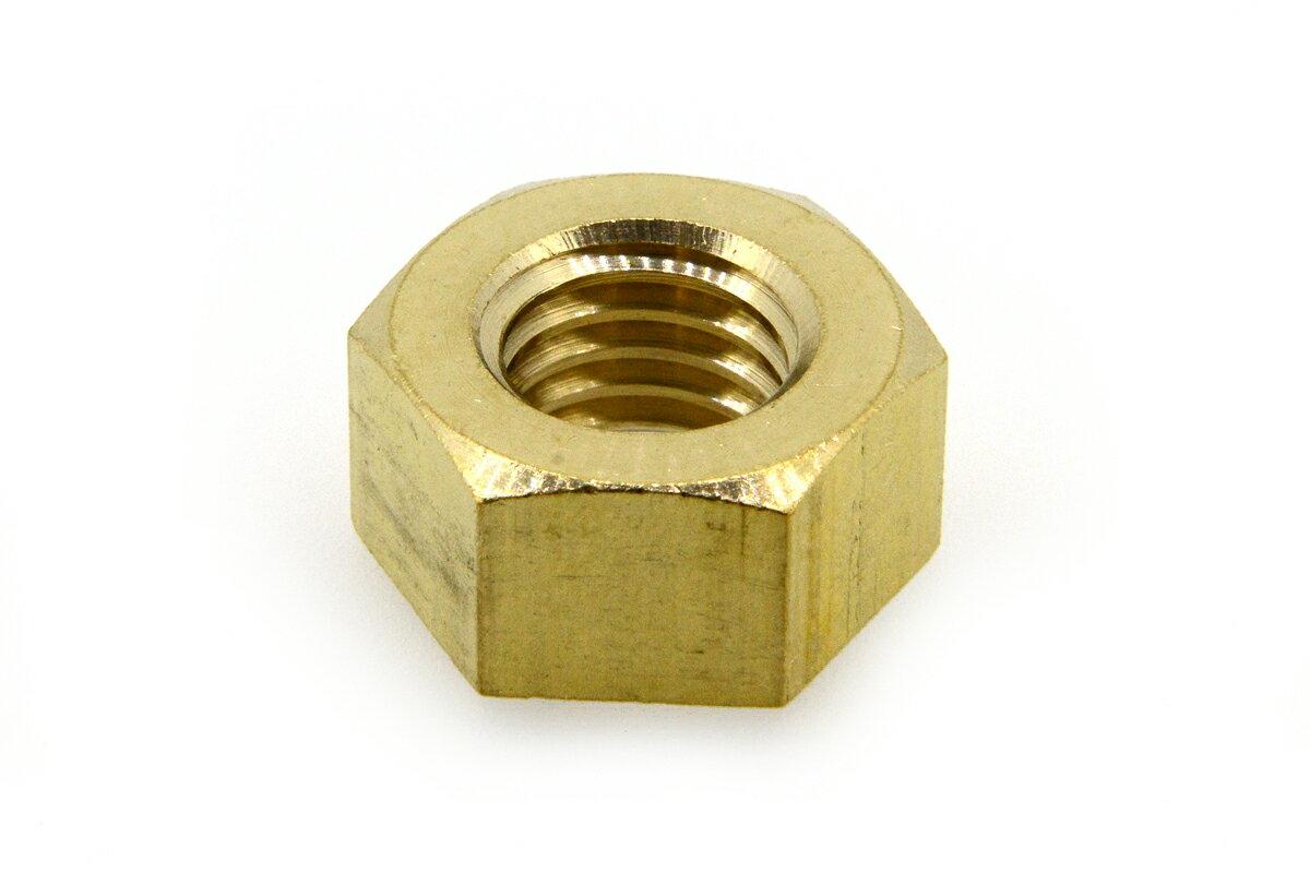 低カドミウム黄銅/生地 六角ナット [1種]M2 【 バラ売り : 10個入り 】