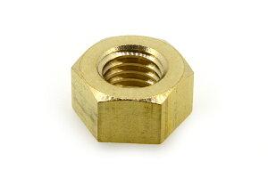 低カドミウム黄銅/生地 六角ナット [1種]M1.2 【 お得セット : 100個入り 】