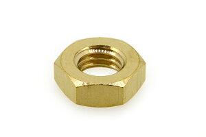 低カドミウム黄銅/生地 六角ナット [3種] (細目)M8 《ピッチ=1.0》 【 バラ売り : 5個入り 】