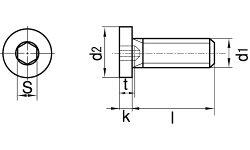 ステンレス/生地[極低頭]キャップボルト(全ねじ)M3×6【バラ売り:2本入り】