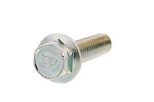 鉄(SCM435)/三価ホワイト フランジボルト [2種 ・強度区分:10.9] (全ねじ)M6×30 【 バラ売り : 6本入り 】