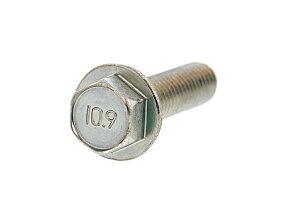 鉄(SCM435)/三価ホワイト フランジボルト [1種 ・強度区分:10.9] (全ねじ)M8×30 【 お得セット : 50本入り 】