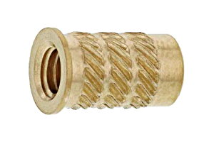 低カドミウム黄銅/生地 フランジビットインサートM3×4.5×5.5 [FB-3001] 【 バラ売り : 10個入り 】