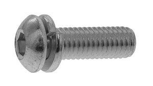 鉄(SCM435)/ユニクロ ボタンセムス [P=2] Sタイプ 日産ねじ製M3×16 【 小箱 : 1箱/1000本入り 】