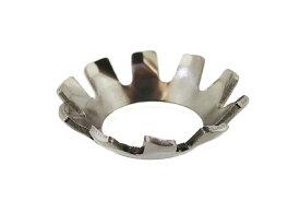 ステンレス/生地 歯付きワッシャー (皿形)M8 【 バラ売り : 10個入り 】
