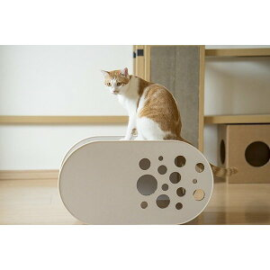 「White House」O型 / 猫用 キャットハウス ECOでおしゃれなデザインの日本製 ダンボール