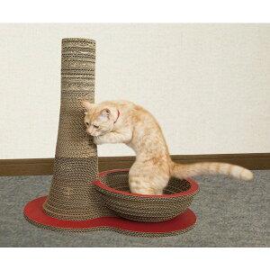 ニャンダフル・爪とぎ 「ポール&ボウル」 / 猫用 ファニチャー 爪とぎ ECOでおしゃれなデザインのこだわり品 日本製ダンボール