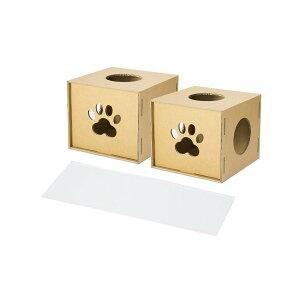 (キャットタワー)ニャンダフルシェルフ mini 専用オプション / 猫用 ECO おしゃれデザイン 日本製 強化ダンボール