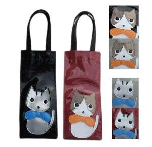 愛され過ぎた家猫達 ペットボトル 水筒 入れ カバー ケース 500ml 小さめ 手提げバッグ かわいい|猫グッズ 雑貨 小物 プレゼント ビニールコーティング トートバッグ|