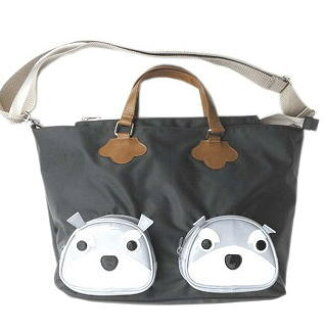 At A4 Lady S Men Nylon Size Grain Shoulder Bag Bias With The Schnauzer Miscellaneous Goods Miniature Dog Pattern Overnight Trip Tote
