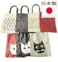 猫 柄 バッグ A4 エコバッグ 猫グッズ 猫 雑貨 プレゼント 猫好き ビニールコーティング トートバッグ