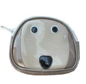 犬顔シリーズ レトリバー顔のポーチ ゴールデンレトリバー ラブラドールレトリバー 犬柄 雑貨 グッズ|犬顔 小物入れ おやつ 薬 タバコ コイン ケース 入れ 犬用品 オーナーグッズ|メンズ レディース 犬好き かわいい モチーフ おもしろ 誕生日 プレゼント エナメル|
