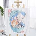 ☆彡ネコchanねこ・猫プリント・Tシャツ☆ かわいい3匹のなかよしペルシャ猫とピンクのバラ・ブルーボックス *,.,.*限定販売!!送料込…