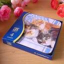 ☆,,三匹のなかよし・昼寝猫コースター 4枚セット..★ ☆~~一点限り入荷 簡易ラッピング込・送料込