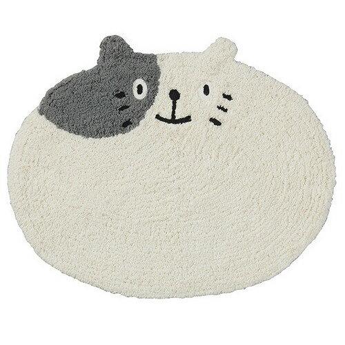 ☆大人気NO,!★ネコ(猫)の♪バス・ミニフロアーマット  ブチ猫 顔猫 【猫柄マット】