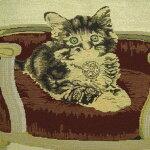 おしゃれ黒白猫さん・ゴブランバック・さん☆彡ラ・ラ・ラン・猫さん・ルンルンシリーズ~~数量限定販売~~キャンパストート高さ40cm横幅46cm底マチ幅11cm