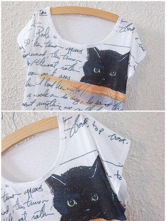 ~~☆~~大人気のおしゃれな・黒猫さん・ダブルキャット・になったょ!!・!!キュートな・黒猫さん,.,.猫柄新作につき 数量限定入荷,.,.(^O^)