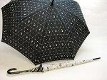 ★婦人長傘【モノトーンネコ】★60cmジャンプ傘