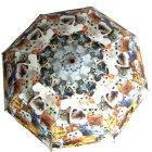 ☆~~雨が降るのが楽しみニャ!!122ニャンとアンブレ—ラ・!!と・お散歩しましょ~~ぃぇ・・ぃぇ・・お日様といっしょにお散歩しましょ~~☆ホワイト☆スライド折りたたみ傘ピコレース50cm★2014新作★晴雨兼用傘<UV99%カット>