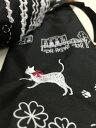☆~真っ赤な・おリボンつけて~白猫さん,.,.小鳥さんとパリのお散歩・キャットシリーズ~~ ☆50cm・楽々折りたたみ・ミニ傘★ブラック★…