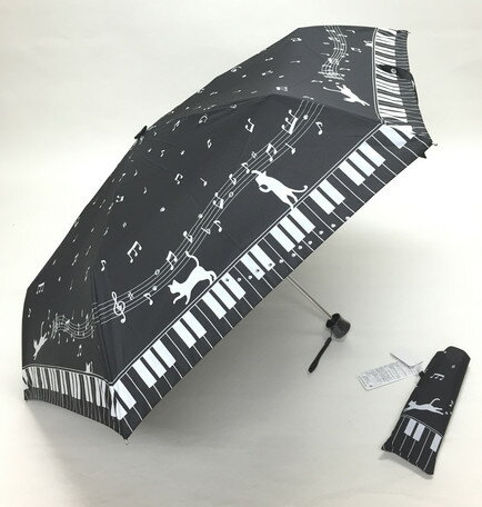 55cm 楽々折りたたみ傘ミニ ブラック