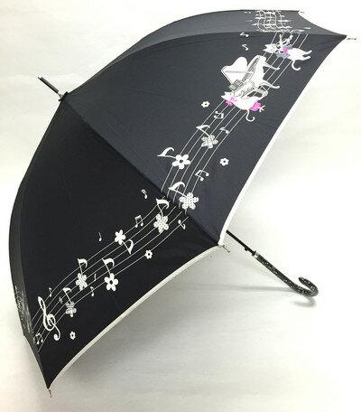 60cm ジャンプ傘 ピアノ・ブラック・耐風傘 *数量限定販売