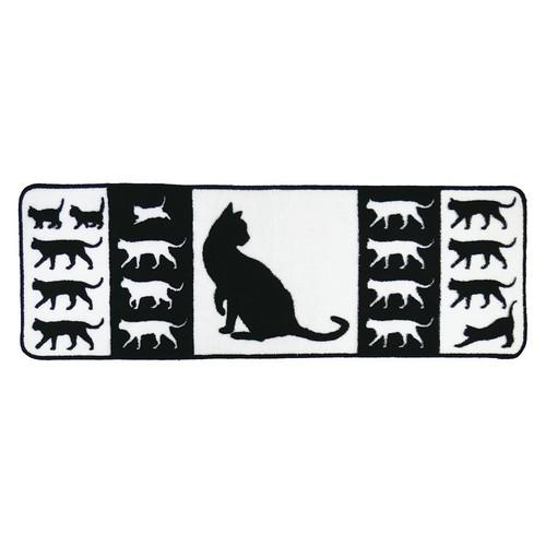 (*^_^*)☆ネコのシルエットがかわいい、人気キッチンシリーズのNEWアイテム*ロングマット********マットサイズ:400×1200mm