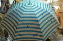 【ネコシリーズ】雨傘 かくれんぼネコボーダー柄<長傘>ブルー 店頭展示品 返品不可 ギフト不可 1本限り