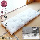 日本製 職人手作り ごろ寝布団 70×180cm お昼寝 小さい和布団