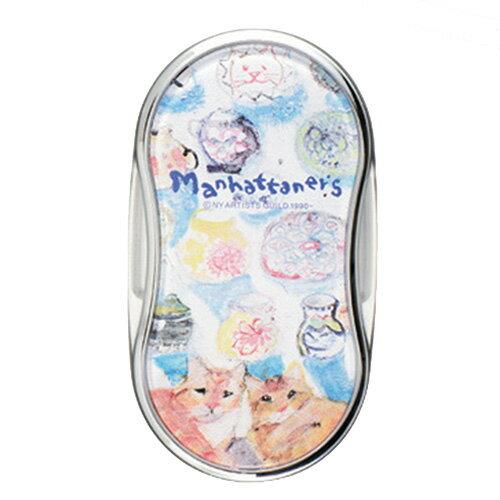 【Manhattaner's】マンハッタナーズ MAN LEDライト付ルーペ2 フリヒリアナの白い輝きに憩う愛猫たち