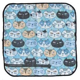 【ノアファミリー】猫のミニタオルハンカチ ウチ猫