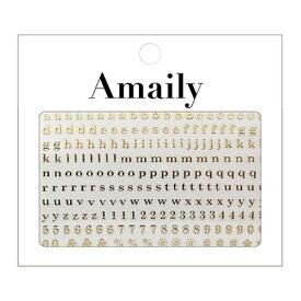 Amaily ネイルシール NO.4-9 アルファベット 小G 【ネイルアート/ネイルシール/ネイル用品】