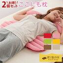 ここにも枕 2個セット|日本製腰枕 足枕 膝枕 脚枕 まくら 腰痛 むくみ 調整可 洗える パイプ ビーズ 背あて 反り腰 快…
