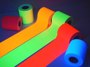 【蛍光色 布粘着テープ (ガムテ) 各50mm幅×5m巻】 6色からお選びください布ガムテープ蛍光