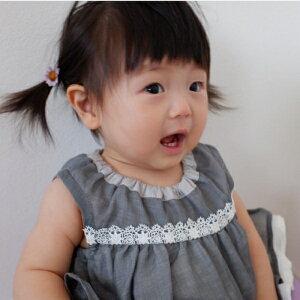 2個セット ドライマーガレットのヘアゴム】ヘアゴム キッズ ベビー 花 髪飾り 赤ちゃん かわいい シリコンゴム ヘアアクセサリー 髪留め