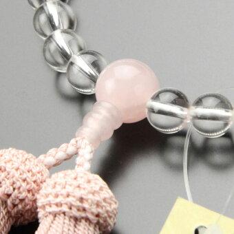 数珠,水晶,ローズクォーツ,2000200100065