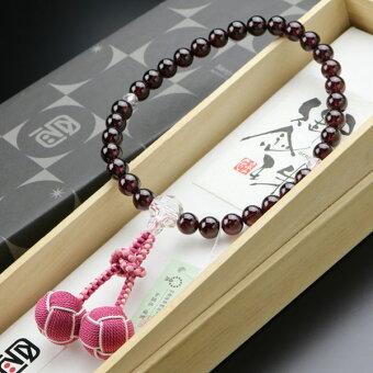 数珠,女性用,カット水晶