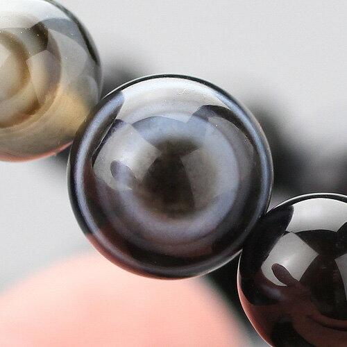 数珠ブレスレット 約8mm 天眼石【パワーストーン 腕輪念珠 メノウ アイアゲート メンズ 男性用 レディース 女性用 8ミリ 107080219】【メール便なら送料199円】