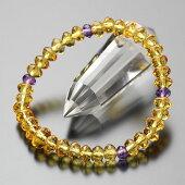 黄水晶,数珠ブレスレット