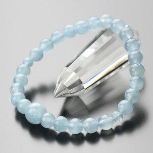 数珠ブレスレット 約7ミリ アクアマリン【腕輪念珠 3月の誕生石 7mm 女性用 レディース 107080193】
