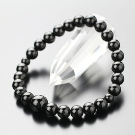 約7mm ブラックトルマリン 数珠ブレスレット【腕輪念珠 数珠ブレス ブレスレット パワーストーン 天然石 お守り 健康 黒 女性用 レディース 7ミリ 107070052】【メール便なら送料199円】