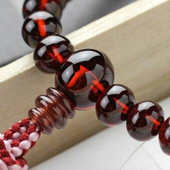 数珠,女性用,アフリカガーネット,0138