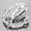 約12ミリ 本水晶 約8ミリ 本水晶・カット水晶 そろばん水晶 ブレスレット 【数珠/天然石/パワーストーン/4月の誕生…
