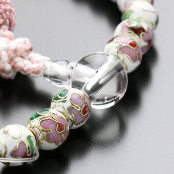 数珠,女性用,七宝焼